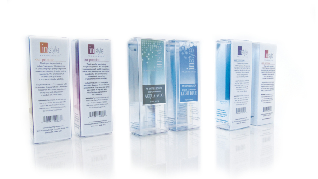 Clear plastic packaging