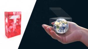Red visualise packaging