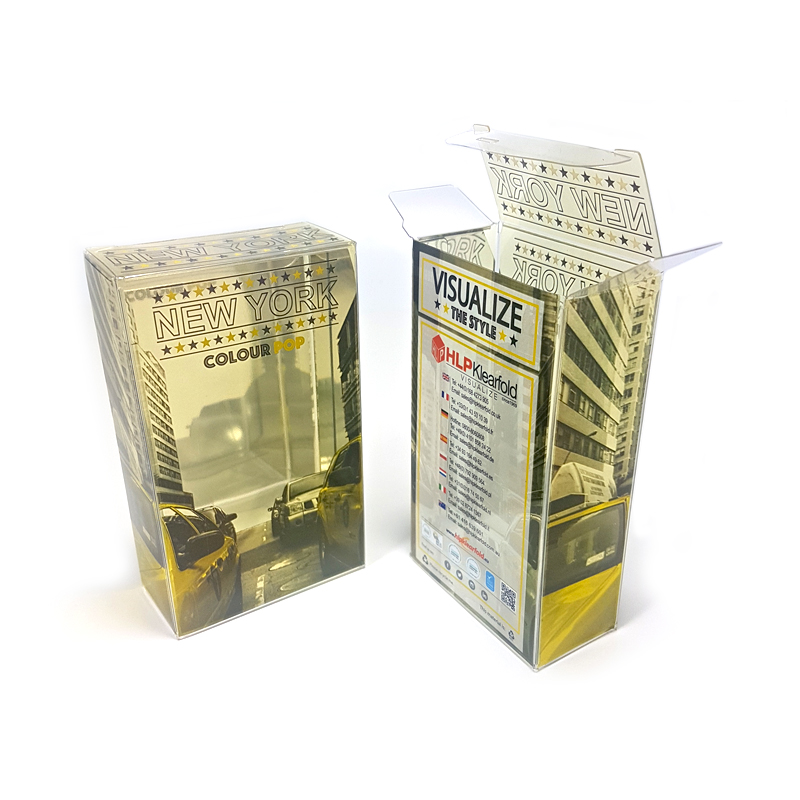 Foil Stamping Clear Plastic Packaging